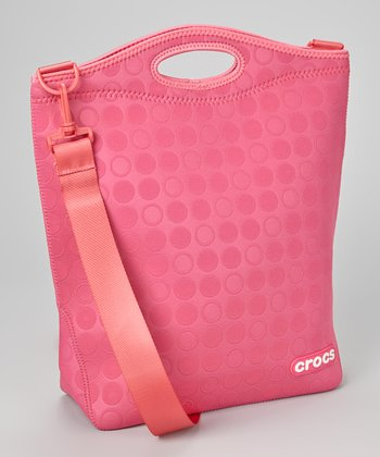 Pink Dot Embossed Tote
