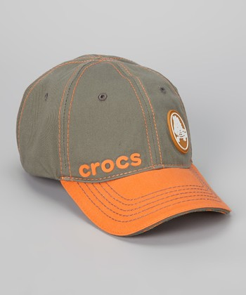 Orange & Graphite Chameleon Baseball Cap - Kids