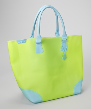Green & Blue Jelly Translucent Tote