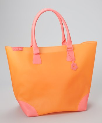 Pink & Orange Jelly Translucent Tote