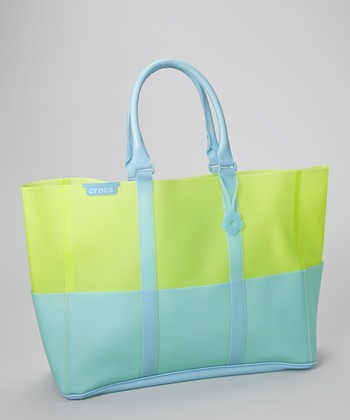 Green & Blue Jelly Translucent Beach Tote
