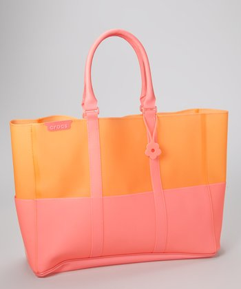 Pink & Orange Jelly Translucent Beach Tote