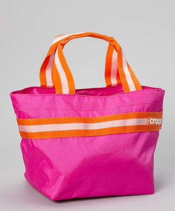 Glam Pink & Neon Orange Crocband Mini Tote
