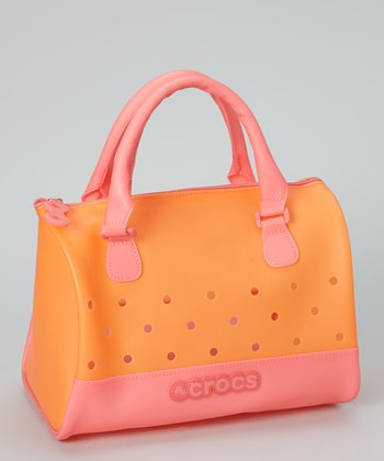 Pink Translucent Jelly Satchel