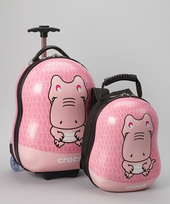 Pink Wheeled Carry-On & Backpack