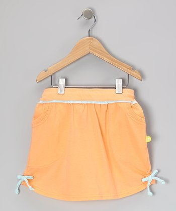Cantaloupe & Sea Foam Jersey Skirt - Toddler & Girls