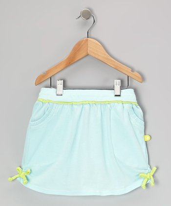 Sea Foam & Celery Jersey Skirt - Toddler & Girls