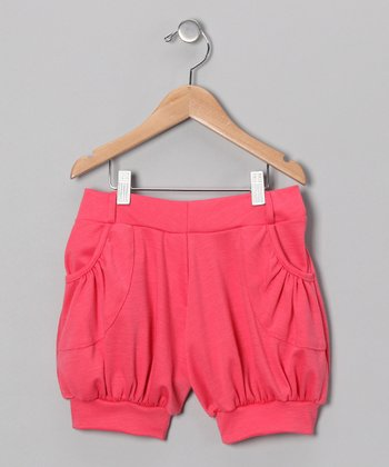 Coral Cuffed Shorts - Girls