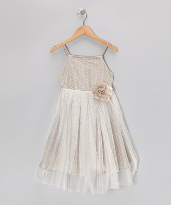 Putty Polka Dot Tulle Dress - Toddler & Girls