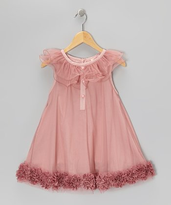 Pink Ruffle Collar Dress - Toddler & Girls