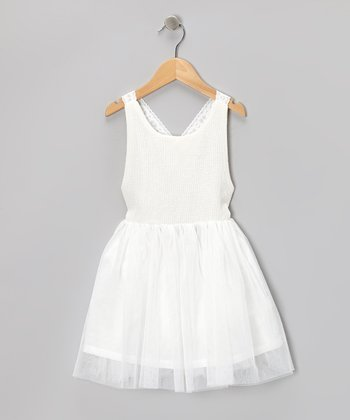 Off-White Tulle Dress - Toddler & Girls