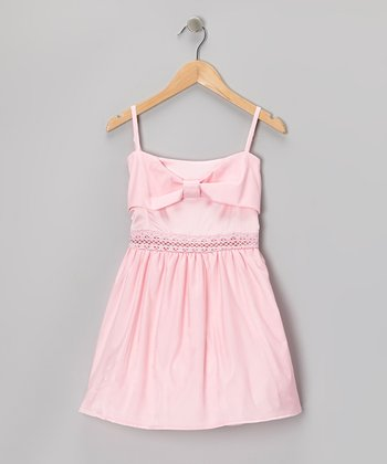 Pink Crocheted Bow Dress - Toddler & Girls
