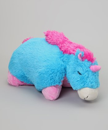 Neon Blue Unicorn Pillow Pet