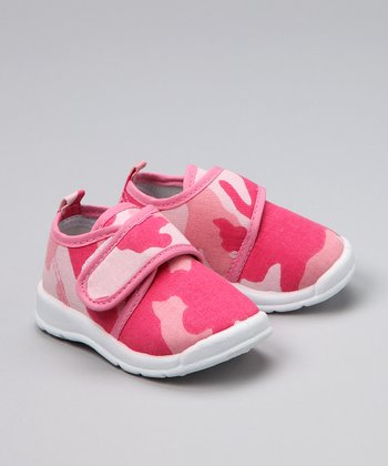 Pink Camouflage Canvas Shoe - Infant, Toddler & Girls