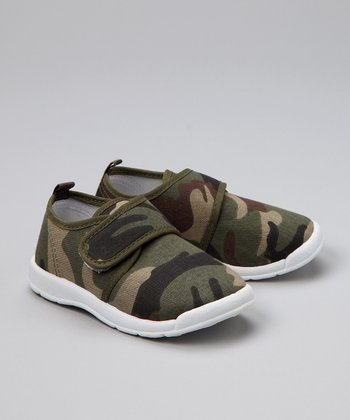 Green Camouflage Canvas Shoe - Infant, Toddler & Boys
