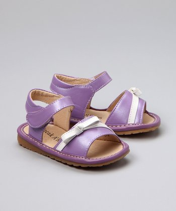 Purple Squeaker Sandal - Toddler & Girls
