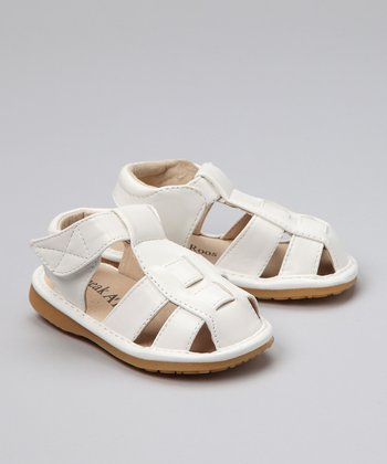 White Patent Squeaker Sandal - Infant, Toddler & Girls