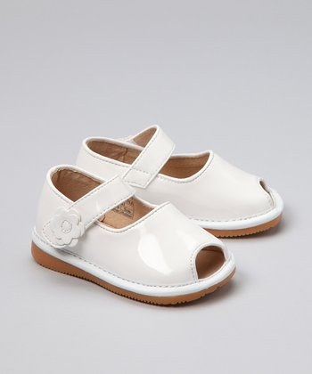 White Patent Open-Toe Shoe - Infant, Toddler & Girls