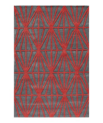 Red Diamond Area Rug