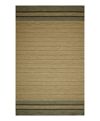 Blue Stripe Wool Rug