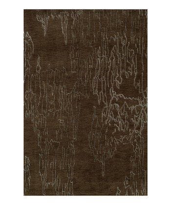 Brown Wool Rug