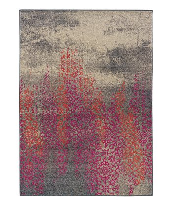 Gray & Purple Prismatic Spectrum Rug