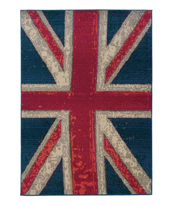 Navy Union Jack Prismatic Spectrum Rug