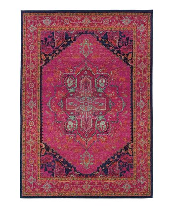 Red Prismatic Spectrum Rug