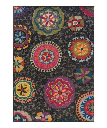 Bright Circle Prismatic Spectrum Rug