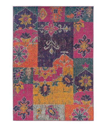 Pink & Orange Prismatic Spectrum Rug