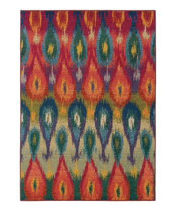 Orange Raindrop Prismatic Spectrum Rug