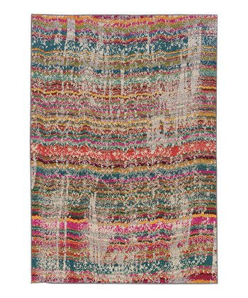 Rainbow Stripe Prismatic Spectrum Rug