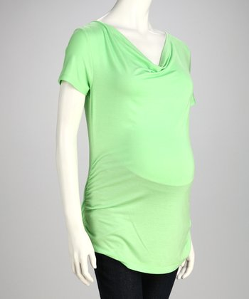 Lime Drape Maternity Top