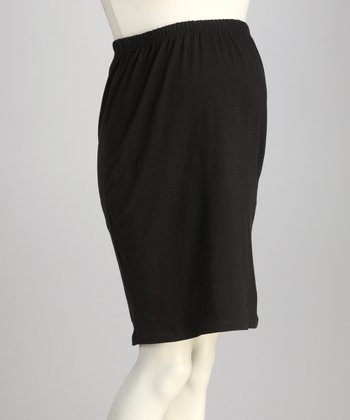 CT Black Over-Belly Maternity Pencil Skirt