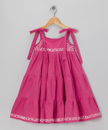 Fuchsia Embroidered Twirl Dress - Infant, Toddler & Girls