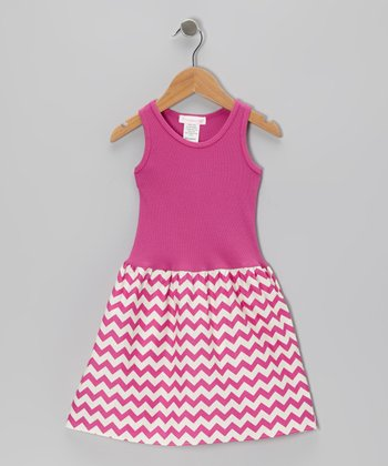 Magenta Zigzag Dress - Infant, Toddler & Girls