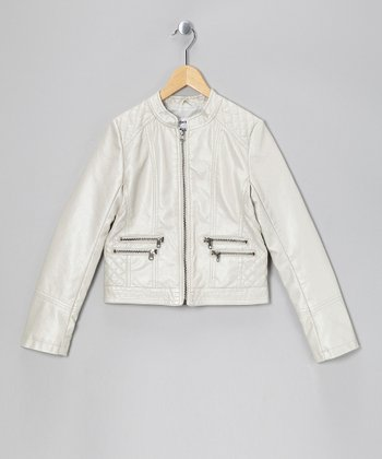 Platinum Pearl Double Zipper Jacket
