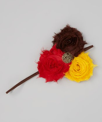 Bronze Fall Flower Headband