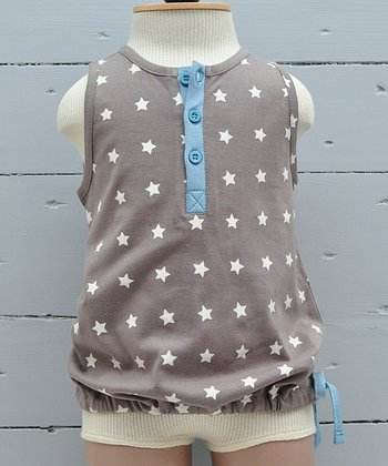 Taupe Star Organic Top - Infant & Girls
