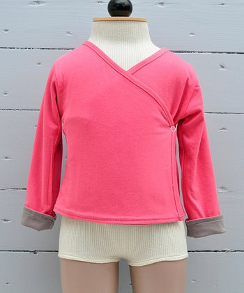 Pink Organic Wrap Top - Infant, Toddler & Girls