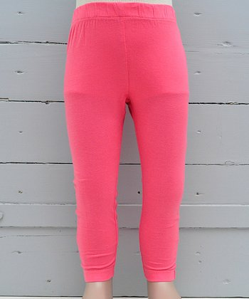 Pink Flambé Organic Leggings - Infant & Girls