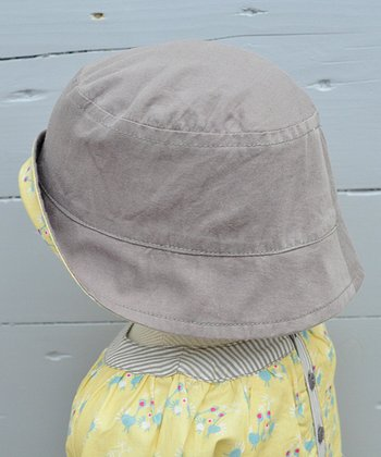 Taupe & Custard Kiss Kiss Reversible Organic Bucket Hat