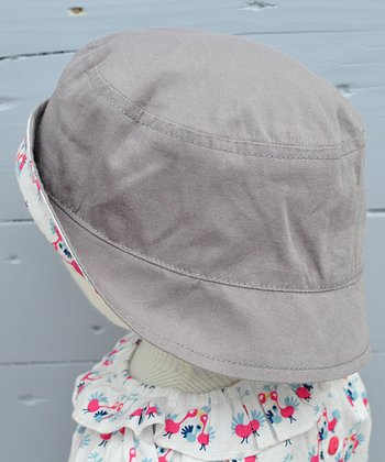 Taupe & Milk Kiss Kiss Reversible Organic Bucket Hat
