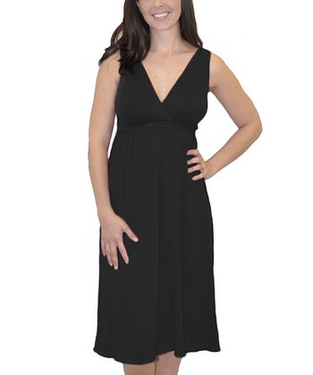 Black Nursing Nightgown - Plus