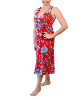 Sangria Signature Nursing Gown - Women