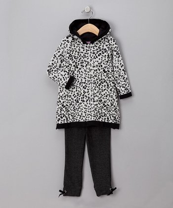 Black Leopard Tunic & Leggings - Infant
