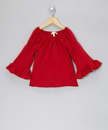 Red Apple of My Pie Peasant Top - Infant, Toddler & Girls