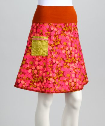 Pink Cherries Jubilee Skirt - Women