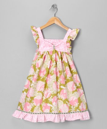 Pink & Green Dots & Ducks Dress - Toddler & Girls