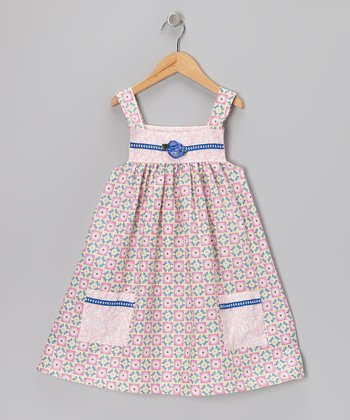 Pink Dragonflies Pinafore Dress - Infant, Toddler & Girls